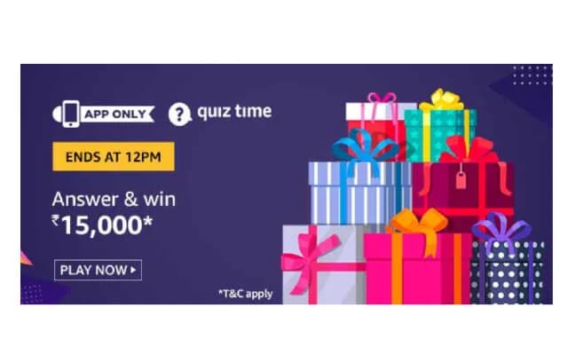 Amazon ₹15000 Pay Balance Quiz Answers