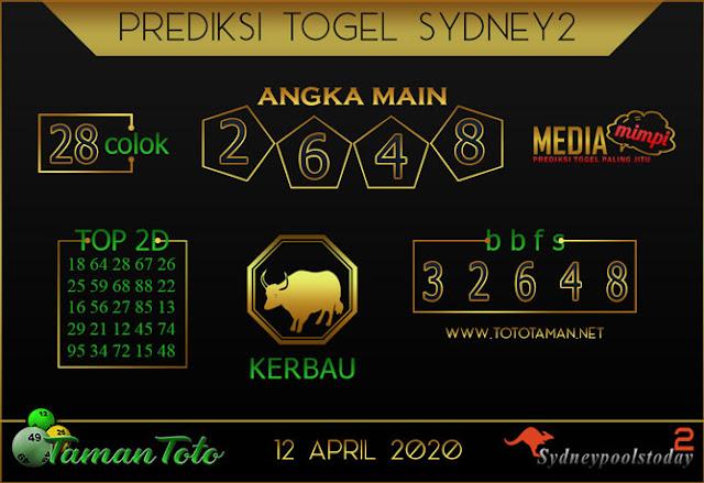 Prediksi Togel SYDNEY 2 TAMAN TOTO 12 APRIL 2020