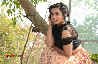 Actress Chetana Uttej Stills in Floral Long Skirt at Pichiga Nachav Movie Press Meet  0140.JPG