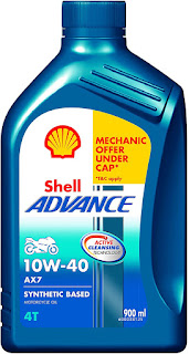 Best Engine Oil For Bike - Shell advance AX7