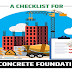 A Checklist for a Concrete Foundation #infographic