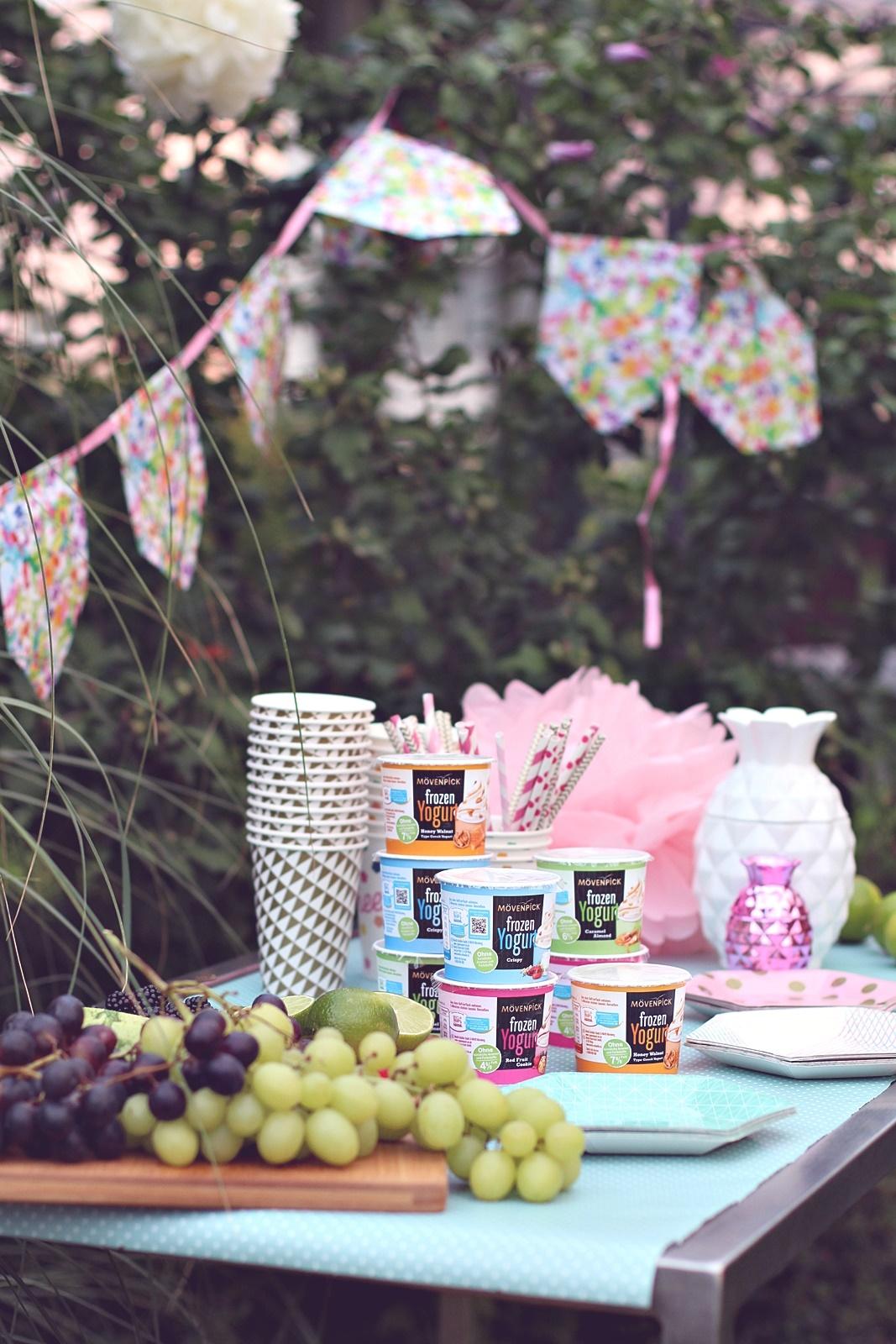 Verlockendes frozen yogurt gartenparty laue - Gartenparty essen ...