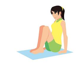 學教練坐著左右屈膝6分鐘,3週練出小蠻腰!