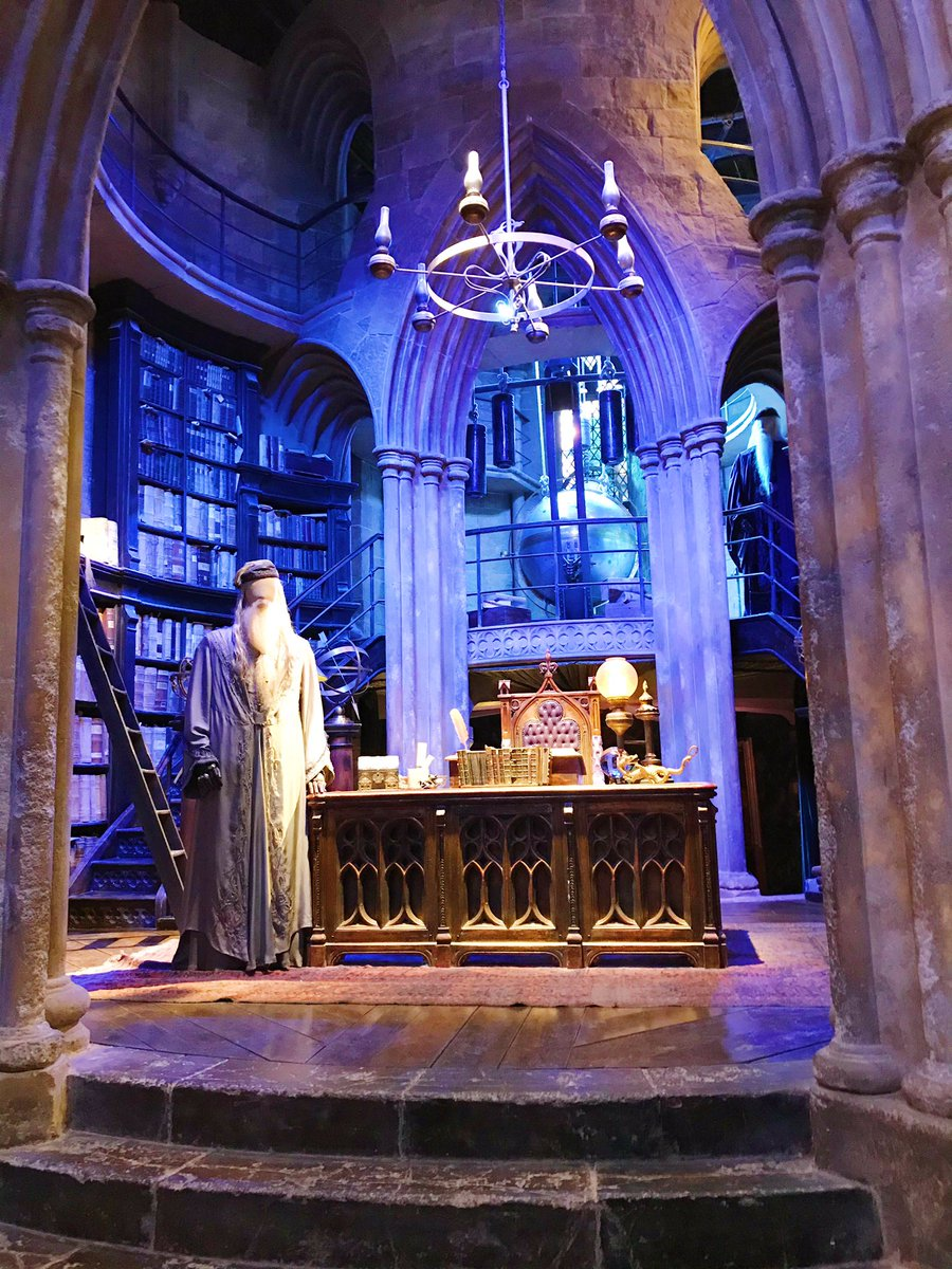 Dumbledores Office at the Harry Potter studio tour