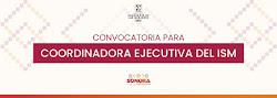 CONVOCATORIA COORDINADORA EJECUTIVA ISM
