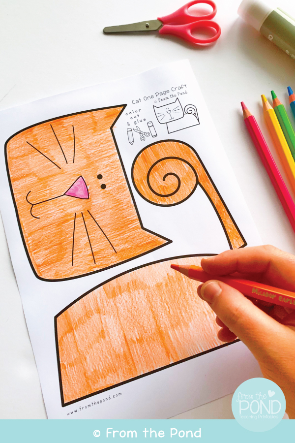 Free Cat Craft for Kids