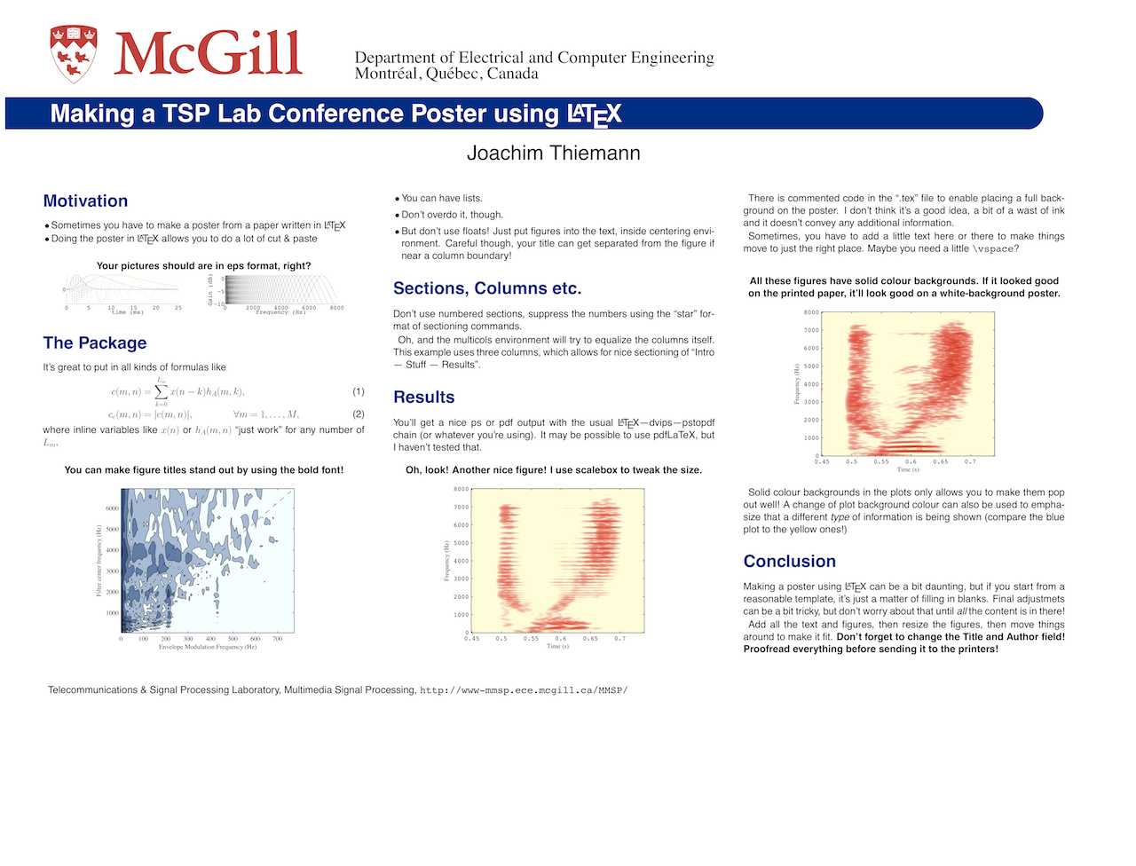 Signals Processed: Conference Posters using LaTeX
