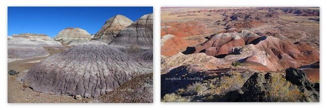 Blue Badlands and Painted Desert at Petrified Forest National Park Arizona