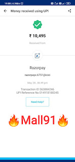 Mall 91 payment Big proof