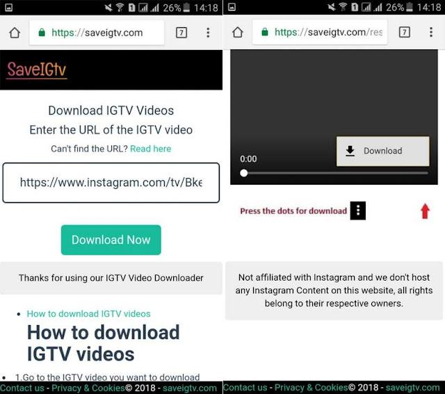 Cara Download Video IGTV Instagram Tanpa Aplikasi