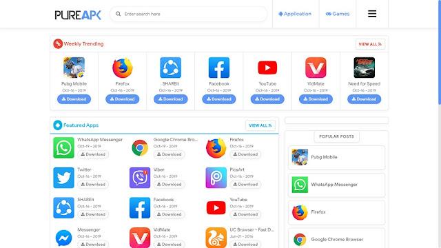 pure apk premium blogger template