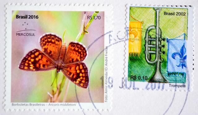 znaczek z motylem