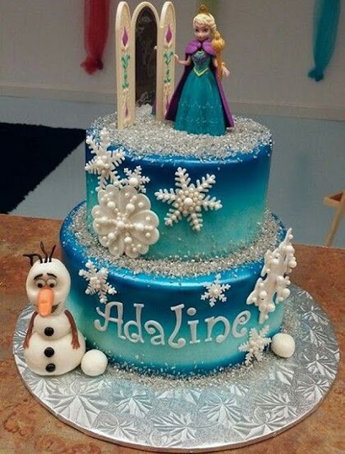 Disney Frozen Birthday Cake Photo for Girls