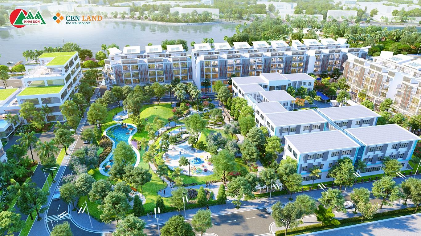 Công viên Xanh tại nội khu dự án Khai Sơn City