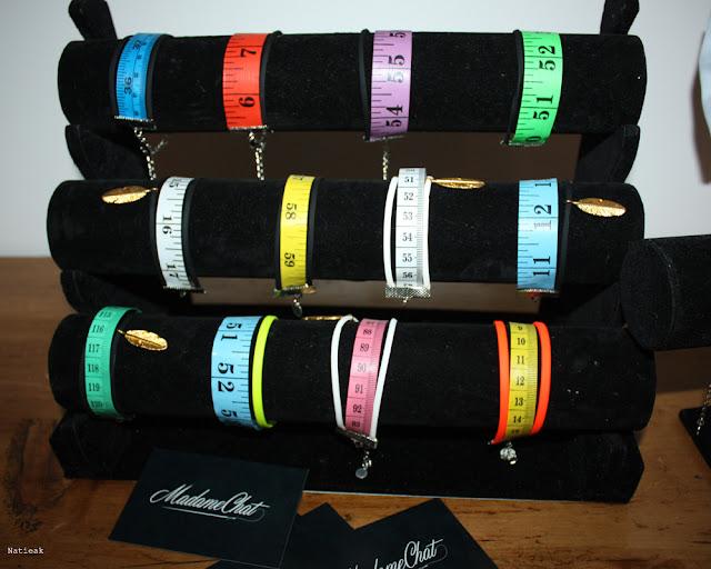 Jean couture bracelets réalisés à partir de rubans couturière