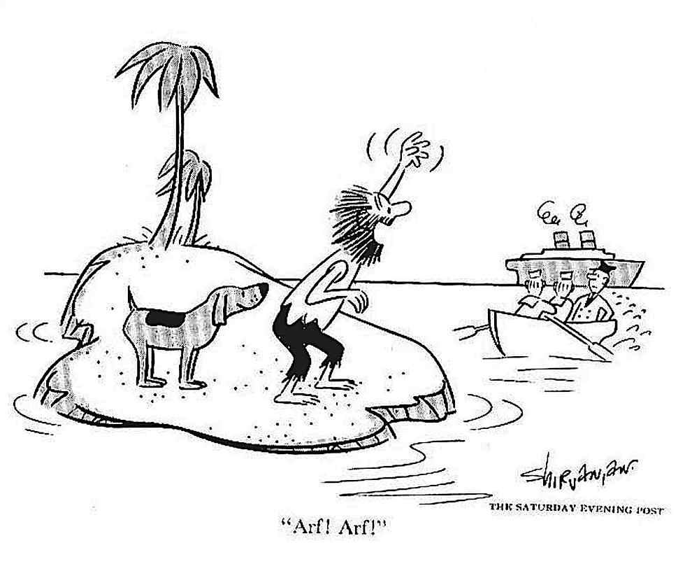 a desert island cartoon