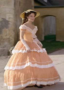 Sissi (Romy Shinaider) vestido e chapéu