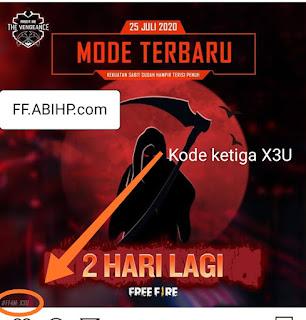 Potongan Kode Redeem FF 4M @FreefirebgID 4