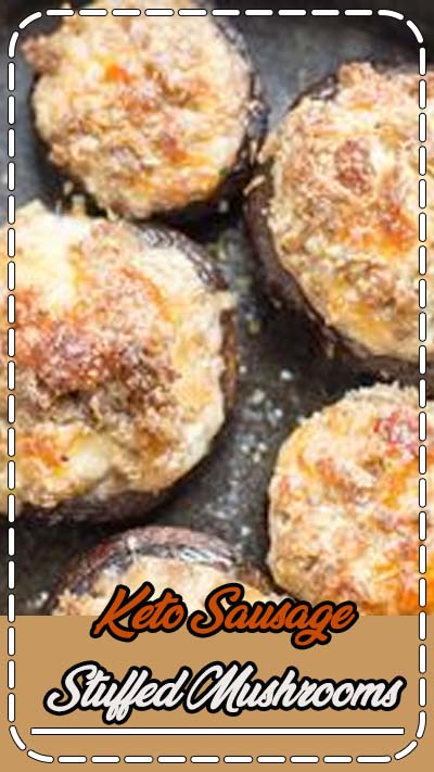 Easy Keto Stuffed Mushrooms are loaded with spicy sausage and cheese for the perfect keto appetizer! #keto #lowcarb