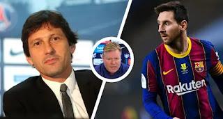 Koeman responds to PSG's attempts to lure Messi to Paris
