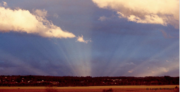 Anti-solar (Anti-crepuscular) rays