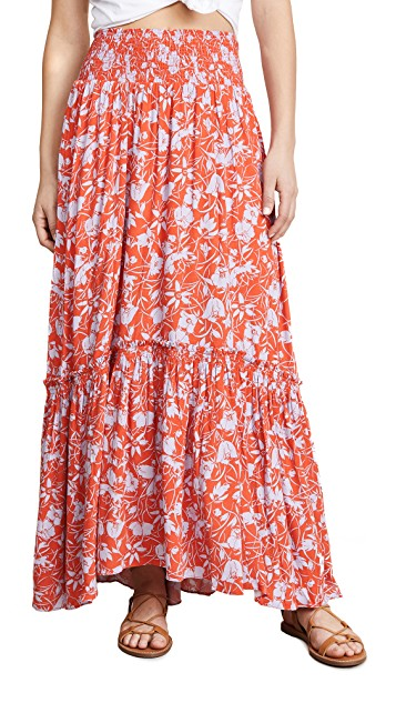 Free People Floral skirt