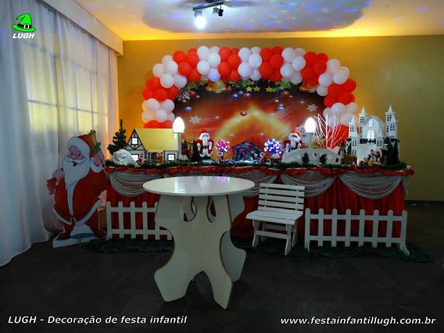 Decoração tema de Natal para festa infantil