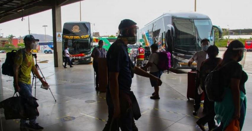 Gobierno suspende servicios de transporte de personas desde y hacia Arequipa a partir del 21 de junio por incremento de casos COVID-19
