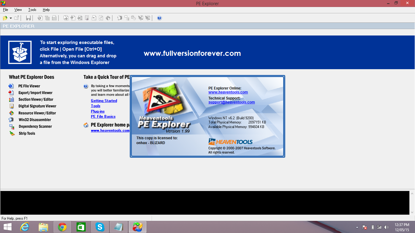 New Release] PE Explorer V1 99 + Keygen SKidrow VBer