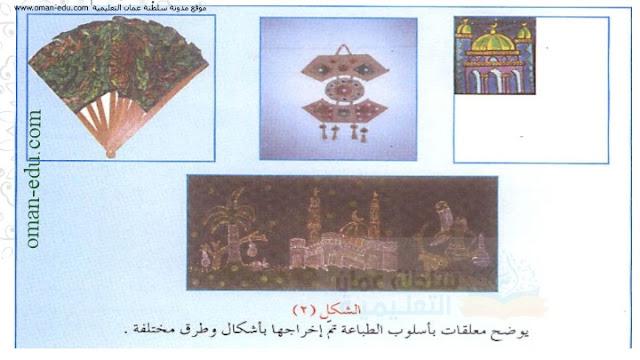 طباعة وإخراج المعلقة في شكلها النهائي - فنون للصف السابع