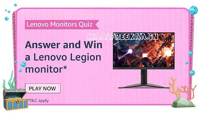 Lenovo Monitor Quiz Amazon Prime Day