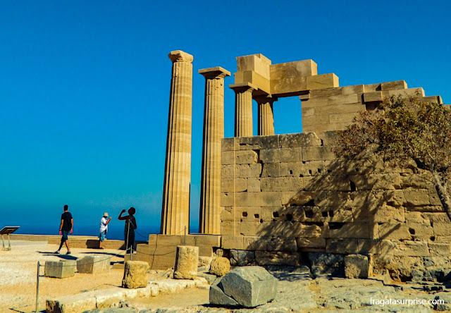 O Templo de Atena, na Acrópole de Lindos