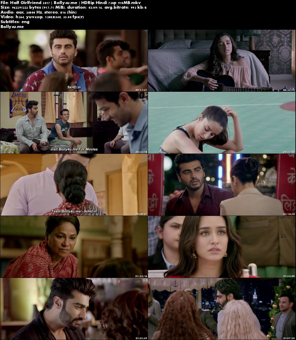 Half Girlfriend 2017 HDRip 350MB Full Hindi Movie Download 480p