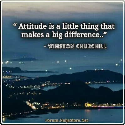 Winston Churchill: ATTITUDE is a little thing that makes a BIG difference - Quotes