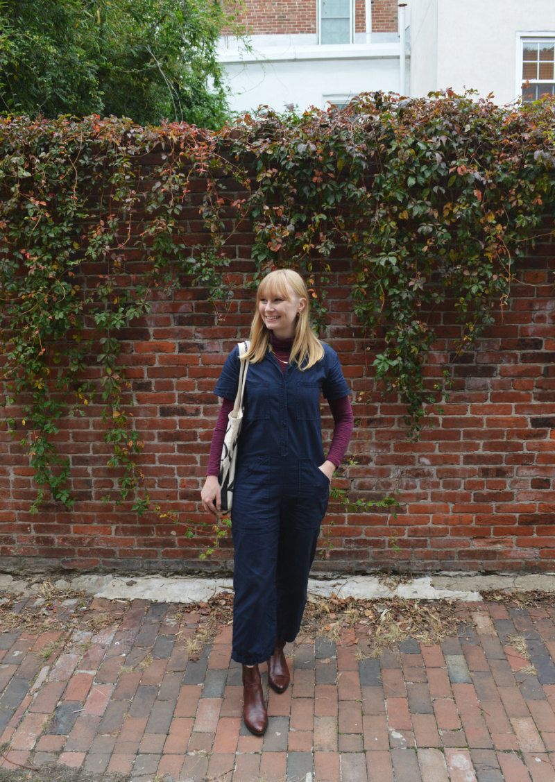 Layering a Turtleneck Underneath Coveralls (+ Philly Farmers' Markets) | Organized Mess