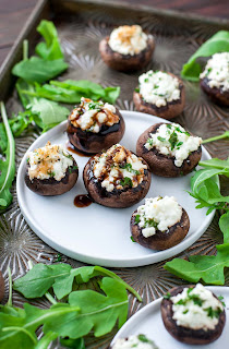 vegetarian mushroom recipe stuffed goat cheese mushrooms