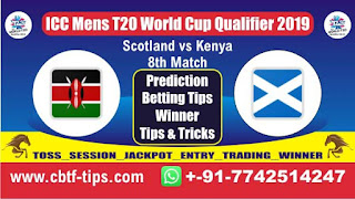Who will win Today, ICC Mens T20 World Cup Qualifier 2019, 8th T20 Match KEN vs SCO
