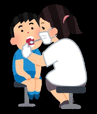 歯科検診のイラスト(小児科)