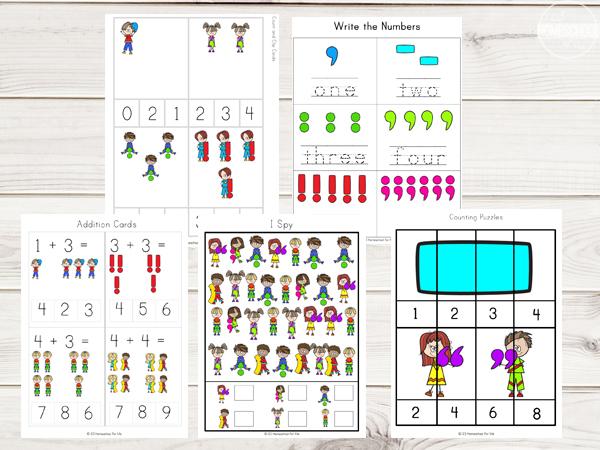 punctuation-marks-math-worksheets-for-preschool-kindergarten