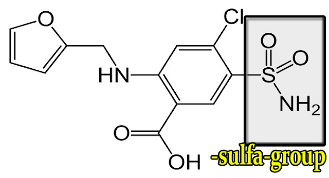 furosemide-chemical-structure-with-sulfa-group