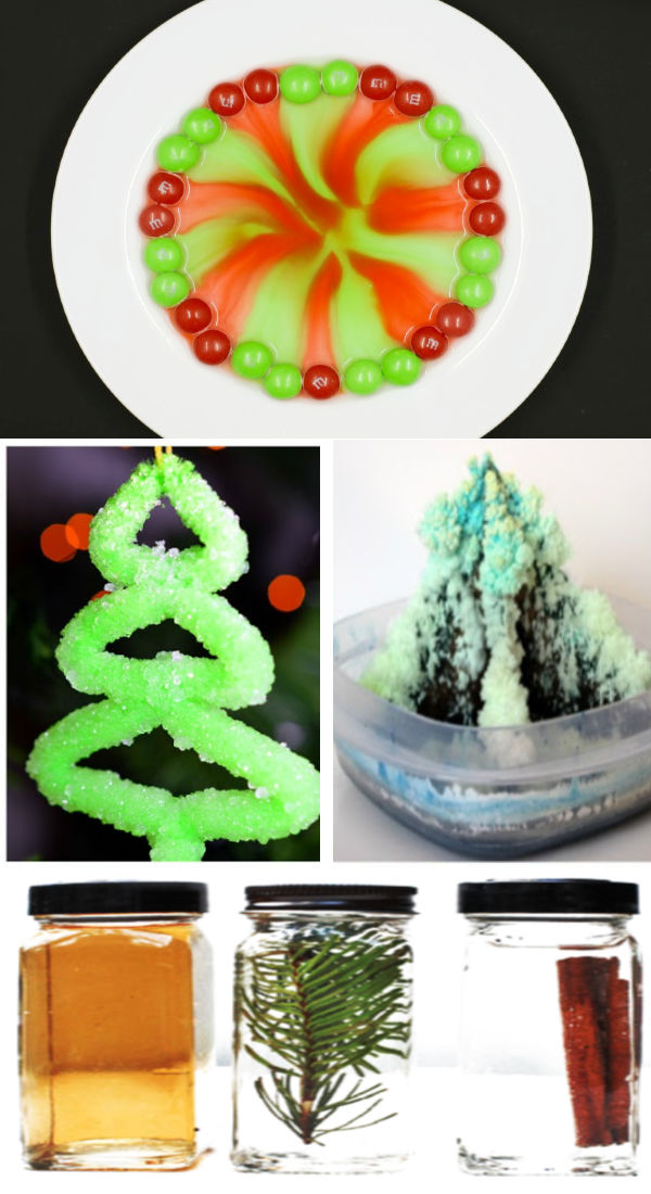 Combine science and Christmas this holiday with these super fun experiments for kids! #christmas #christmasscienceexperimentsforkids #christmasscience #christmassciencepreschool #chrismtasexperimentsforkids #holidayscienceactivitiesforkids #holidayscience #christmascrafts #growingajeweledrose #activitiesforkids