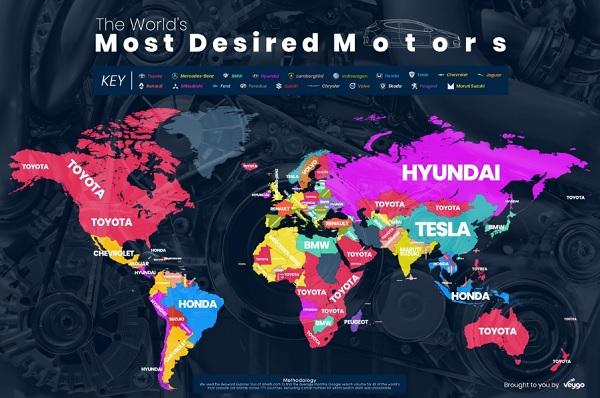 marca de autos más buscada a lo largo del año Veygo