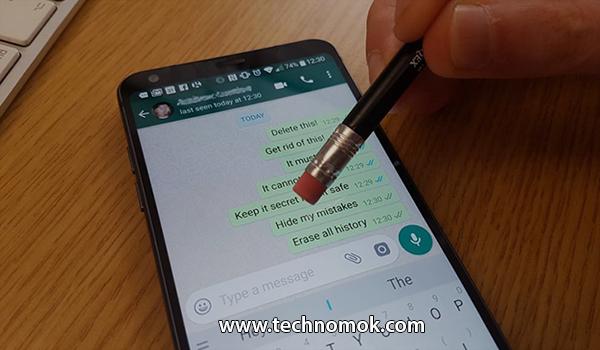 حذف رسائل الواتس أب من الطرفين