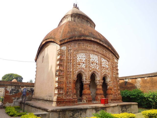 The Vijay Vaidyanath Temple, dedicated to Lord Shiva, Kalna Rajbari Temple complex, West Bengal