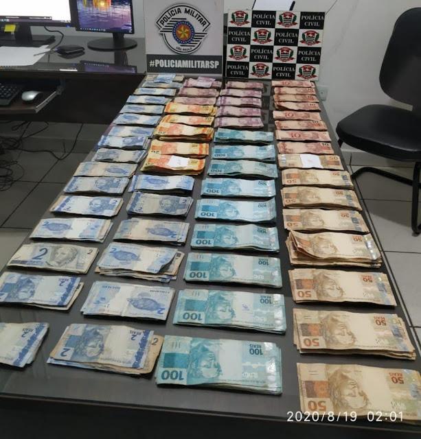 Polícia recupera mais de R$ 21 mil furtados de depósito de material de construção em Panorama