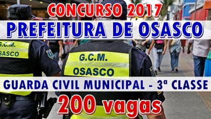 Concurso Prefeitura de Osasco 2017 Guarda Civil Municipal (GCM)