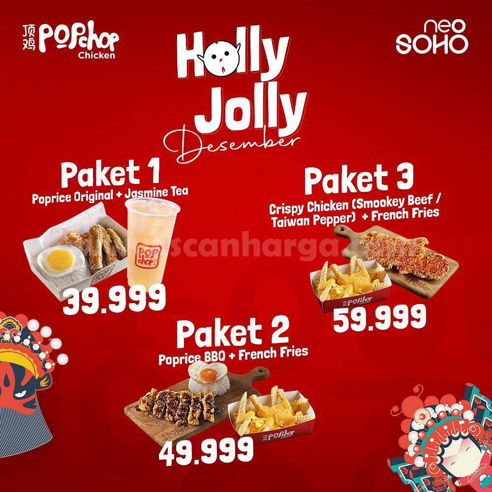 Promo Pop Chop Chicken Neo Soho – Paket Holly Jolly harga mulai Rp 39.990,-