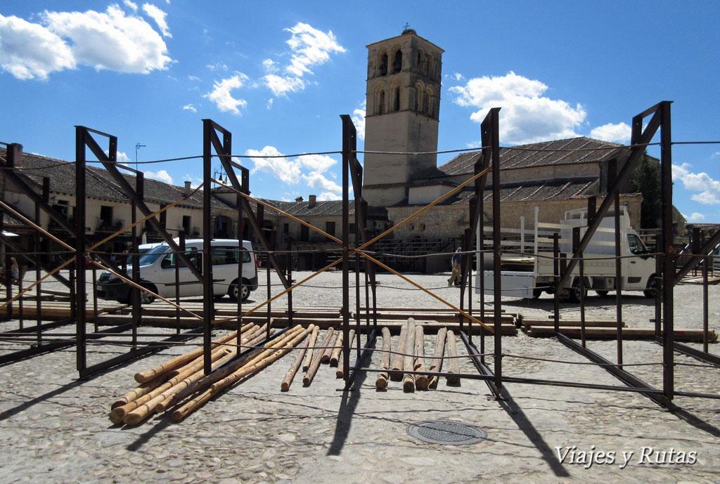 Iglesia de San Juan Bautista, Plaza Mayor, Pedraza
