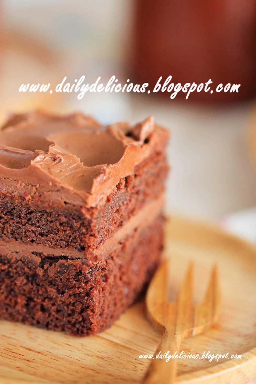 Dailydelicious Chocolate Cake With Chocolate Mascarpone