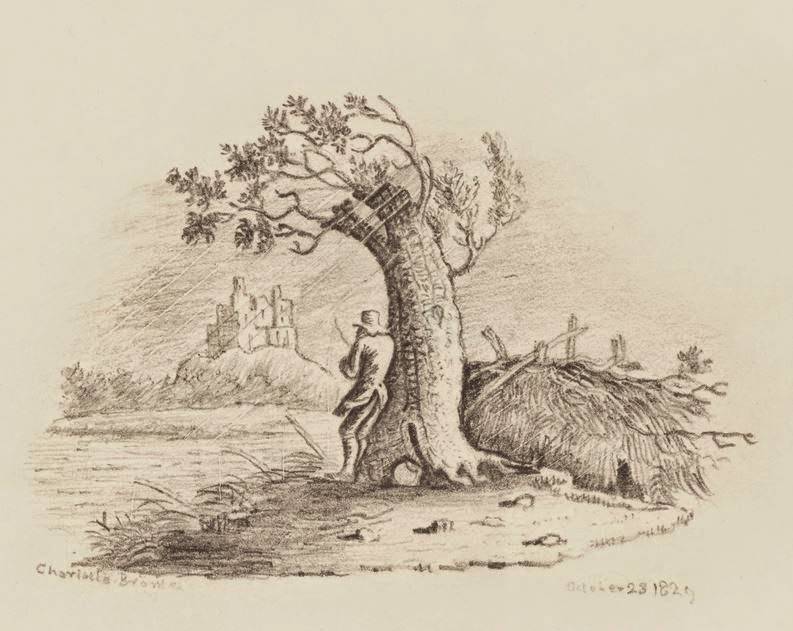 Fisherman Sheltering against a Tree